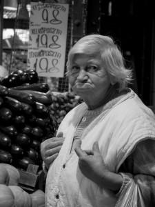 Lady in market